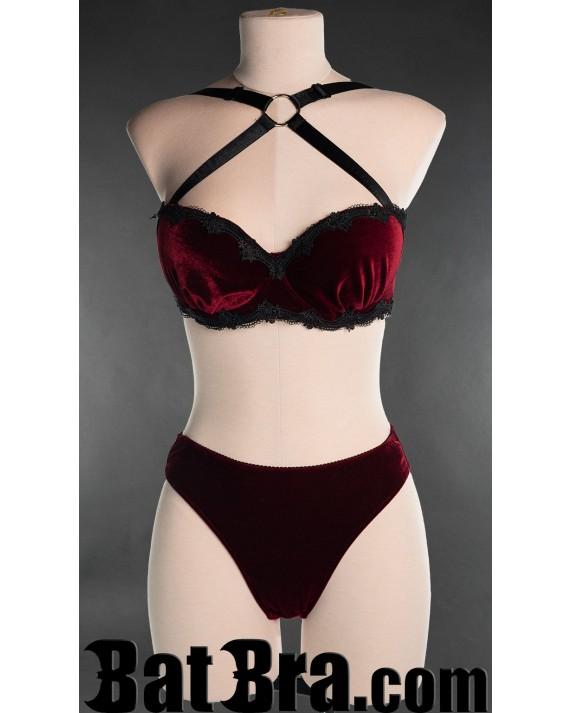 Red Velvet Lace Bra