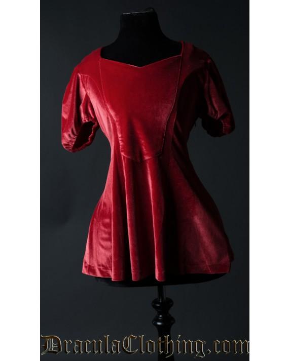 Red Velvet Tunic