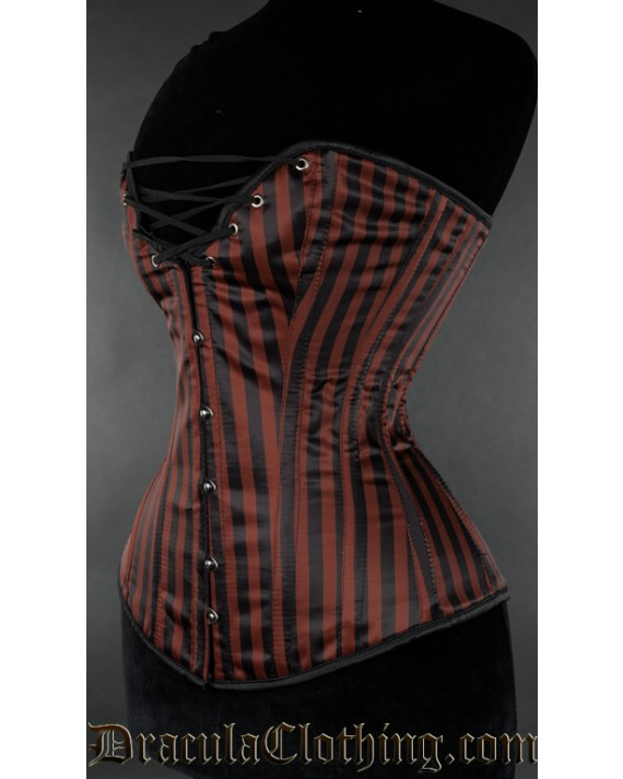 Steampunk Striped Cleavage Corset