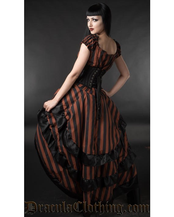 Steampunk Striped Layer Bustle Skirt