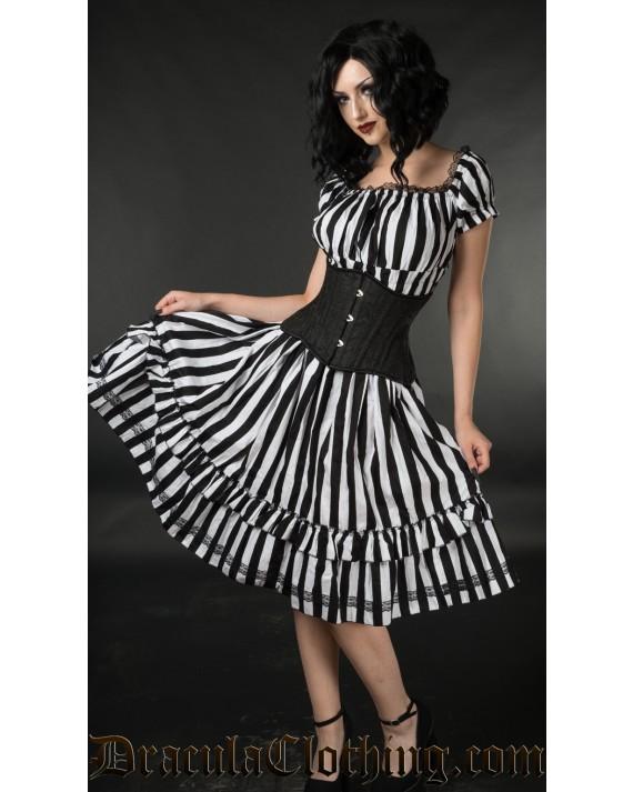 Striped Gothabilly Dress