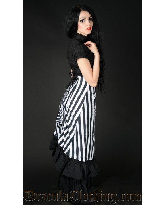 Striped Two Layer Bustle Skirt