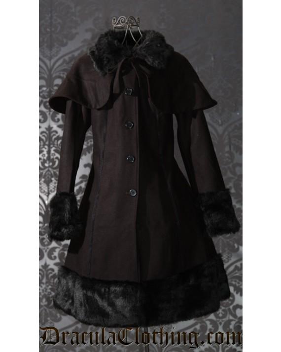 Winter Wool Coat Brown