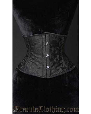 Black Brocade Waist Cincher