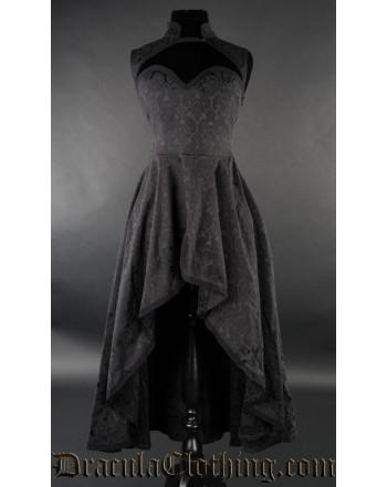 Brocade Choker Dress