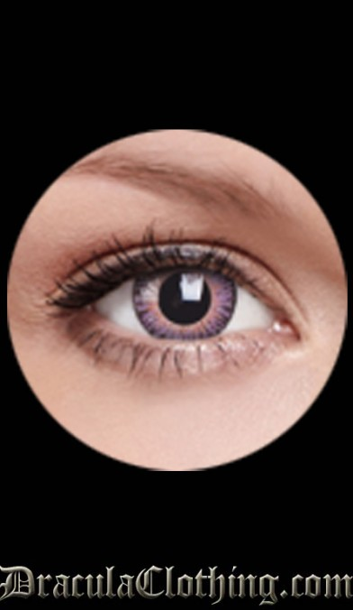 3 Tones Violet Contact Lenses