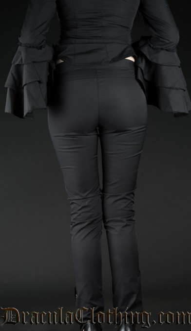 Black Five Button Pants