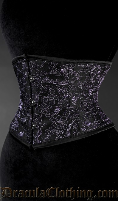 Purple Brocade Dragon Waist Cincher