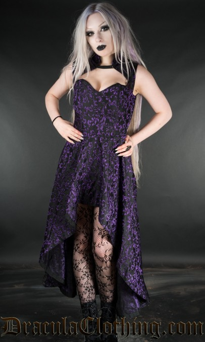 Amethyst Steel Choker Dress