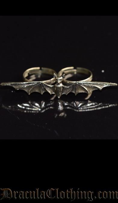 Bat Two Finger Ring