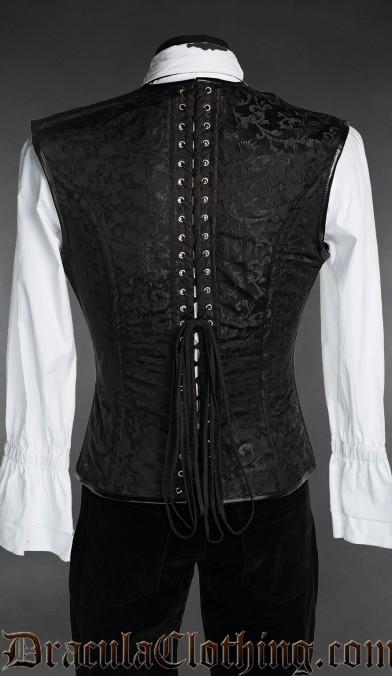 Black And Blue Corset Vest