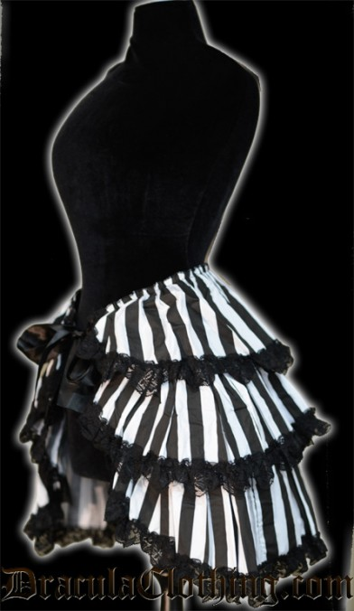 Black and White Overskirt