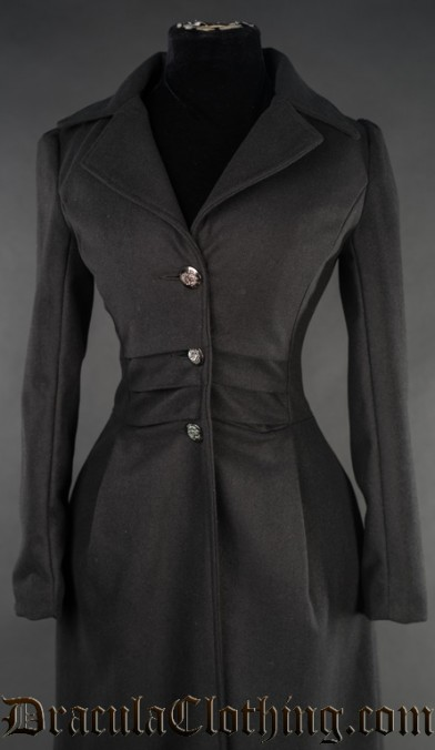 Black Baronetess Coat