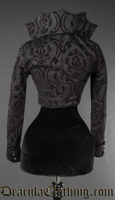Black Brocade Evil Queen Jacket