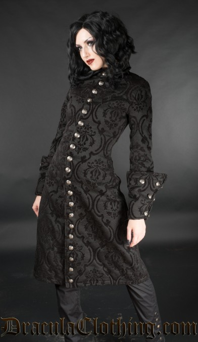 Black Brocade Female Admiral Coat