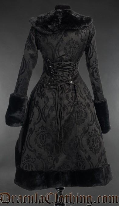Black Brocade Frock Coat