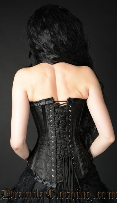 Black Brocade Romantic Corset