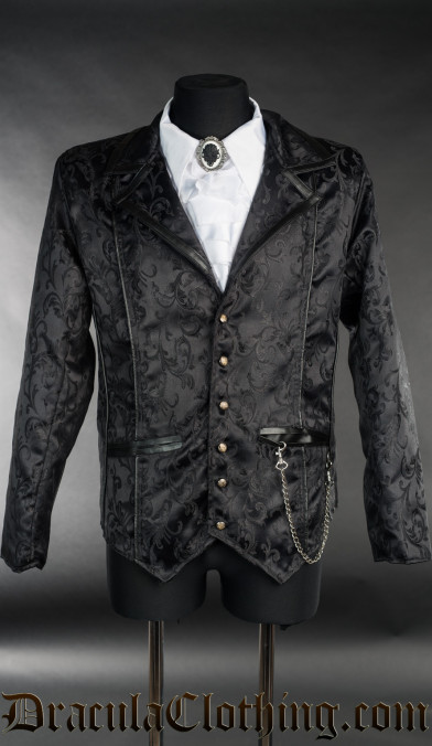 Black Brocade Tesla Jacket