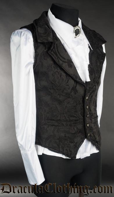 Black Brocade Waistcoat