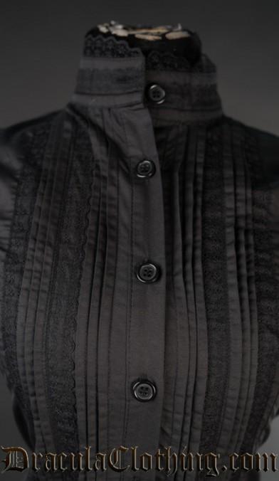 Black Edwardian Blouse