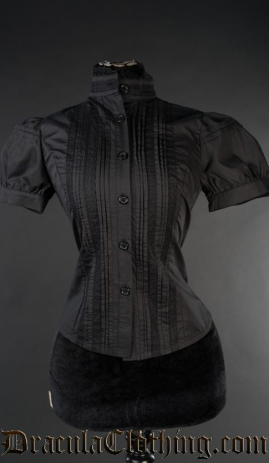Black Edwardian Blouse