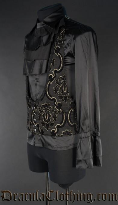 Black Jacquard Waistcoat