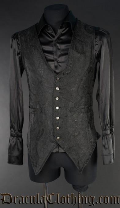 Black Marquis Long Vest