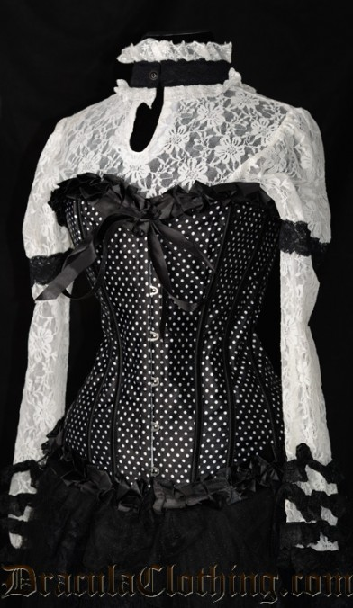Black Polkadot Corselette