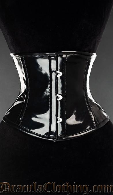Black PVC Waist Cincher