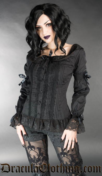 Black Romantic Blouse