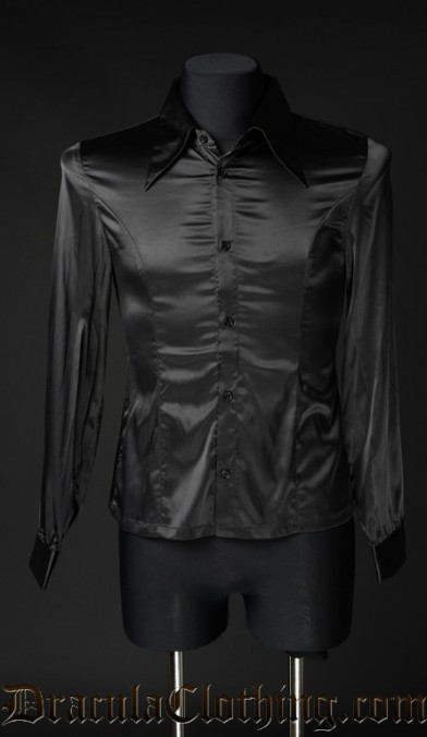 Black Satin Marquis Shirt