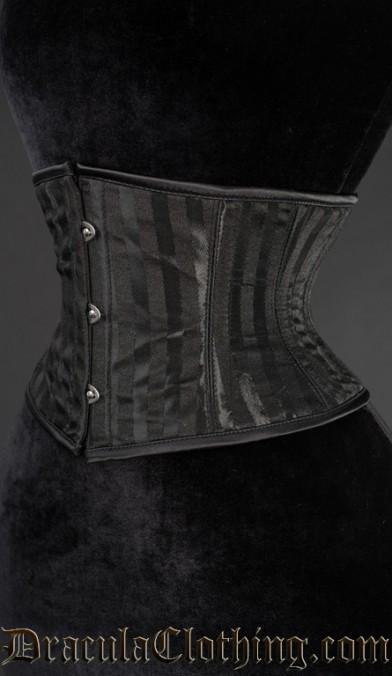 Black Striped Waist Cincher