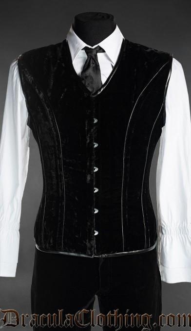 Black Velvet Corset Vest