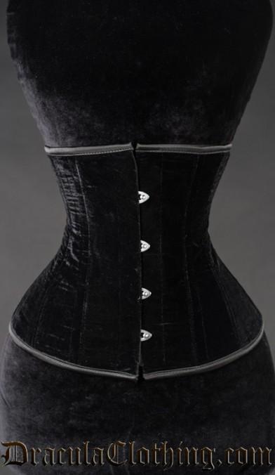 Black Velvet Underbust Corset