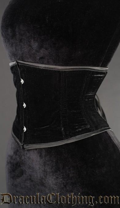 Black Velvet Waist Cincher