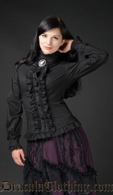Black Victorian Blouse