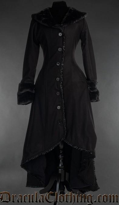Black Wool Evil Princess Coat