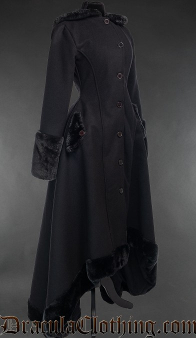 Black Wool Warm Winter Coat