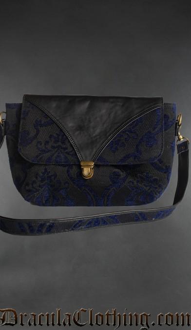 Blue Brocade Shoulder Bag
