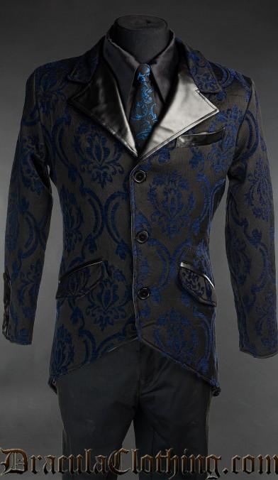 Blue Brocade Tailcoat
