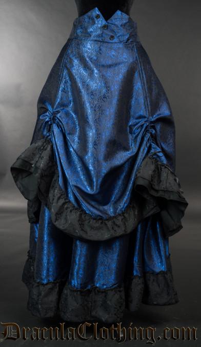 Blue Romantic Bustle Skirt
