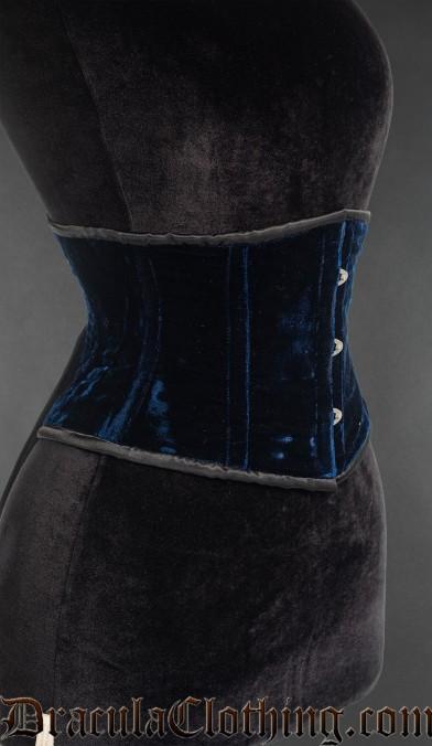 Blue Velvet Waist Cincher