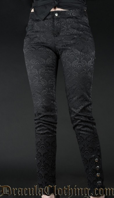 Brocade Five Button Pants