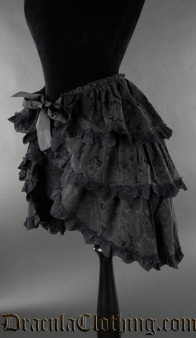 Black Brocade Overskirt
