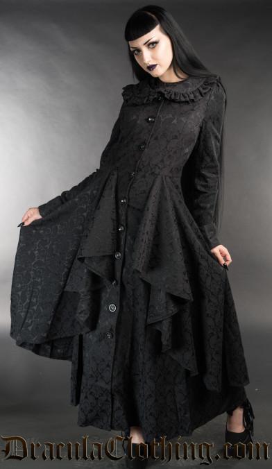 Brocade Ruffle Coat