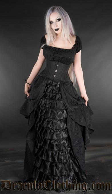 Brocade Victorian Dress