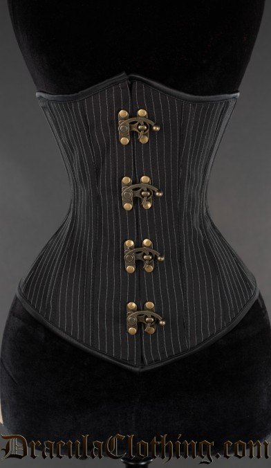 Bronze Clasp Pinstripe Corset