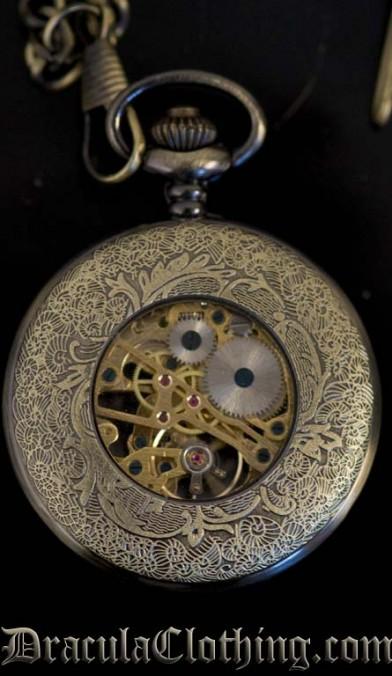 Bronze Colored Steampunk Pocket Watch