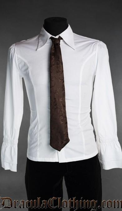 Brown Brocade Tie