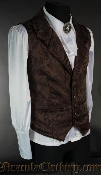 Brown Brocade Waistcoat
